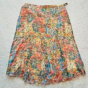 Coldwater Creek floral skirt